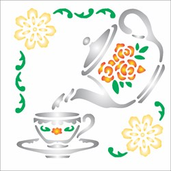 Stencil OPA 10 x 10 Simples 1 Chapa (OPA082) Cantoneira Chá
