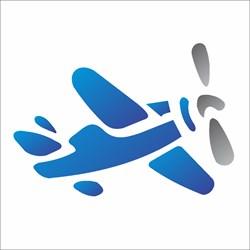 Stencil OPA 10 x 10 Simples 1 Chapa (OPA229) Avião
