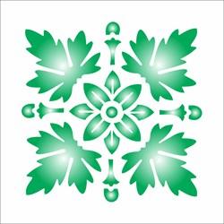 Stencil OPA 10 x 10 Simples 1 Chapa (OPA460) Brasão Folhas
