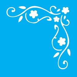 Stencil OPA 10 x 10 Simples 1 Chapa (OPA502) Cantoneira Folhas