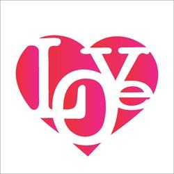 Stencil OPA 10x10 Simples 1 Chapa (OPA1309) Love