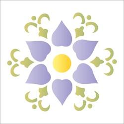 Stencil OPA 10x10 Simples 1 Chapa (OPA1310) Mandala Flor