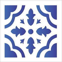 Stencil OPA 10x10 Simples 1 Chapa (OPA1345) Ladrilho Coração