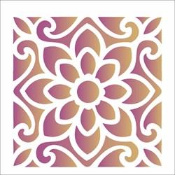Stencil OPA 10x10 Simples 1 Chapa (OPA1712) Ladrilho Flor