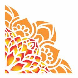 Stencil OPA 10x10 Simples 1 Chapa (OPA2413) Cantoneira Flor de Lótus