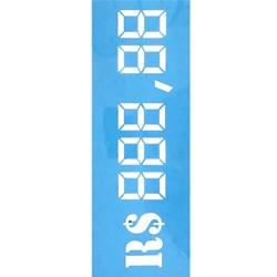 Stencil OPA 10x30 Simple 1 Chapa (OPA1035) Marcador de Preços