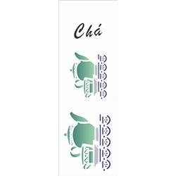Stencil OPA 10x30 Simples 1 Chapa (OPA005) Chá Bule