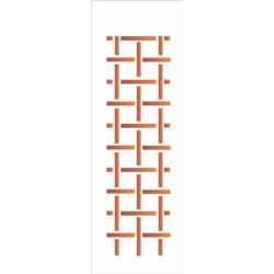 Stencil OPA 10x30 Simples 1 Chapa (OPA019) Estampa Xadrez