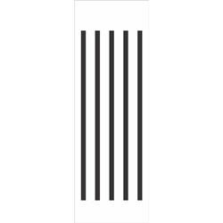 Stencil OPA 10x30 Simples 1 Chapa (OPA036) Listras Grandes