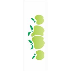 Stencil OPA 10x30 Simples 1 Chapa (OPA099) Frutas Maça II