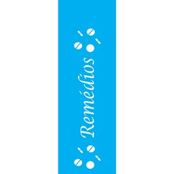 Stencil OPA 10x30 Simples 1 Chapa (OPA101) Remédios