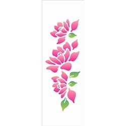 Stencil OPA 10x30 Simples 1 Chapa (OPA1033) Flores Magnolias