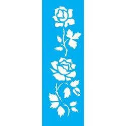 Stencil OPA 10x30 Simples 1 Chapa (OPA1036) Flores Rosas II