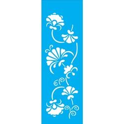 Stencil OPA 10x30 Simples 1 Chapa (OPA1078) Arabesco Floral