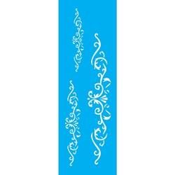 Stencil OPA 10x30 Simples 1 Chapa (OPA1459) Arabesco 3 folhas