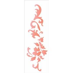 Stencil OPA 10x30 Simples 1 Chapa (OPA1846) Arabesco Floral III