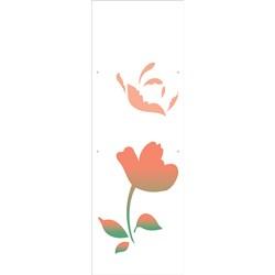Stencil OPA 10x30 Simples 1 Chapa (OPA1868) Flor Camélia III