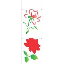 Stencil OPA 10x30 Simples 1 Chapa (OPA1869) Flor Rosa I