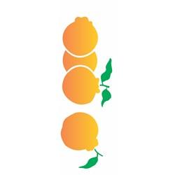 Stencil OPA 10x30 Simples 1 Chapa (OPA1875) Frutas Ponkan