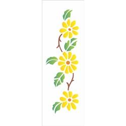 Stencil OPA 10x30 Simples 1 Chapa (OPA209) Flores Girassóis