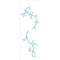 Stencil OPA 10x30 Simples 1 Chapa (OPA2210) Arabesco Folha