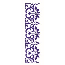 Stencil OPA 10x30 Simples 1 Chapa (OPA2220) Barra Arabesco Flor