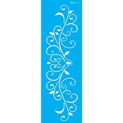 Stencil OPA 10x30 Simples 1 Chapa (OPA2417) Arabesco Folhas e Coração