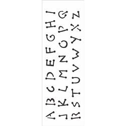 Stencil OPA 10x30 Simples 1 Chapa (OPA300) Alfabeto Infantil