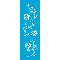 Stencil OPA 10x30 Simples 1 Chapa (OPA339) Flores Rosas