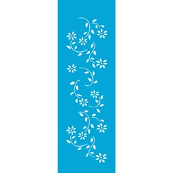 Stencil OPA 10x30 Simples 1 Chapa (OPA341) Flores Margaridas II
