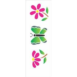 Stencil OPA 10x30 Simples 1 Chapa (OPA431) Borboletas e Flores