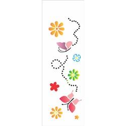 Stencil OPA 10x30 Simples 1 Chapa (OPA480) Borboletas e Flores III