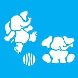Stencil OPA 14x14 Simples 1 Chapa (OPA1028) Elefantes