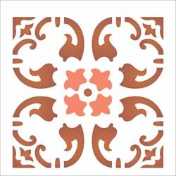 Stencil OPA 14x14 Simples 1 Chapa (OPA1365) Ladrilho Folha