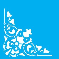 Stencil OPA 14x14 Simples 1 Chapa (OPA1733) Cantoneira Arabesco Cruz