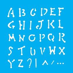 Stencil OPA 14x14 Simples 1 Chapa (OPA973) Alfabeto