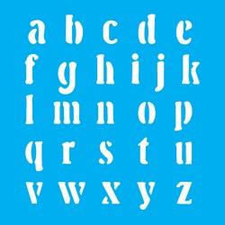 Stencil OPA 14x14 Simples 1 Chapa (OPA974) Alfabeto II