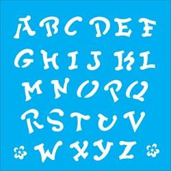 Stencil OPA 14x14 Simples 1 Chapa (OPA976) Alfabeto IV