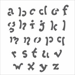 Stencil OPA 14x14 Simples 1 Chapa (OPA977) Alfabeto V