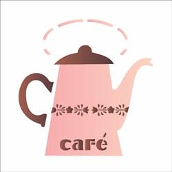 Stencil OPA 14x14cm 2 Chapas (OPA1375) Café