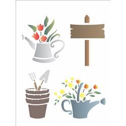 Stencil OPA 15x20 Simples 1 Chapa (OPA1013) Jardinagem