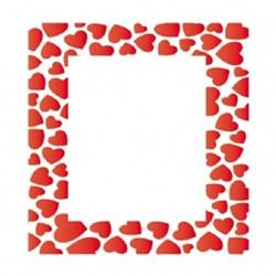 Stencil OPA 15x20 Simples 1 Chapa (OPA1016) Moldura Corações
