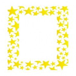 Stencil OPA 15x20 Simples 1 Chapa (OPA1017) Moldura Estrelas