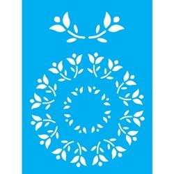 Stencil OPA 15x20 Simples 1 Chapa (OPA169) Mandala de Flores