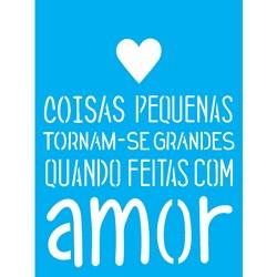 Stencil OPA 15x20 Simples 1 Chapa (OPA1754) Com Amor