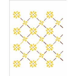 Stencil OPA 15x20 Simples 1 Chapa (OPA244) Cerca Flores