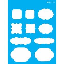 Stencil OPA 15x20 Simples 1 Chapa (OPA2450) Tags