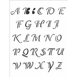 Stencil OPA 15x20 Simples 1 Chapa (OPA299) Alfabeto Clássico