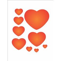 Stencil OPA 15x20 Simples 1 Chapa (OPA379) Corações Patchwork