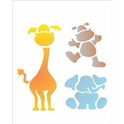 Stencil OPA 20x25 Simples 1 Chapa (OPA1048) Zoológico